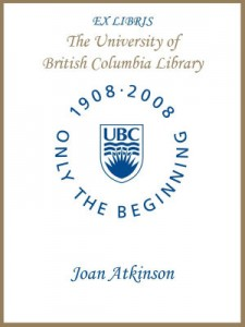 UBC Centenary Bookplate – Joan Atkinson