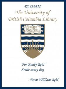 UBC Bookplate from William Reid