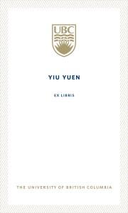 UBC Bookplate from Yiu Yuen
