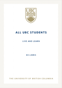 UBC Bookplate from Julian Kwong & Katrina Lo