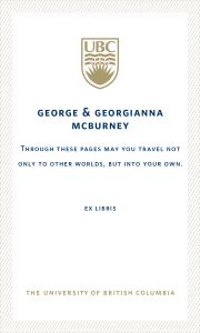 UBC Bookplate from Mrs. Jana McBurney-Lin