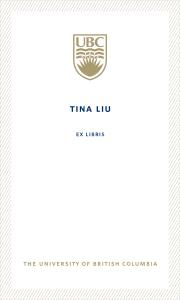 UBC Bookplate from Tina Liu