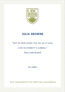 UBC Bookplate from Simone Souza Browne De Paula