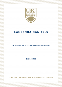 UBC Bookplate from Nadine L.S. Baldwin