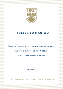 UBC Bookplate from Danny Wu