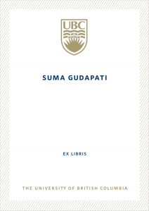 UBC Bookplate from Suma Gudapati